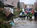 Einsatz der Calwer Feuerwehr während des Sturms Sabine