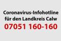 Coronavirus Infohotline für den Landkreis Calw