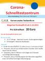 Corona- Schnelltestzentren Ohne Voranmeldung (Personalausweismitbringen!) Pro Schnelltest 20 Euro