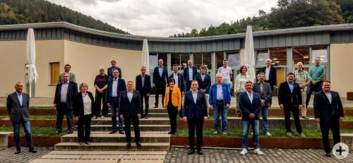 Gruppenbild Gemeinderat mit OB Kling 2020