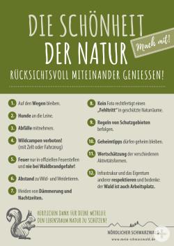 Naturregeln-Schild