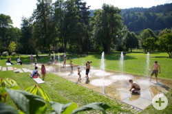 Wasserspiele im Kurpark Hirsau
