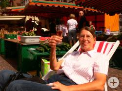 Wochenmarkt im Sommer