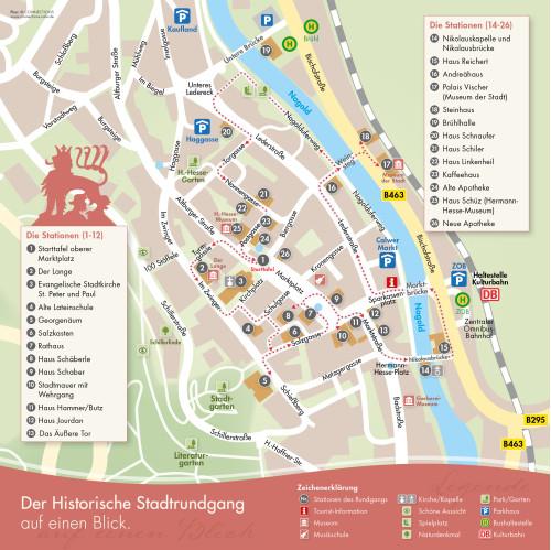 Plan historischer Stadtrundgang