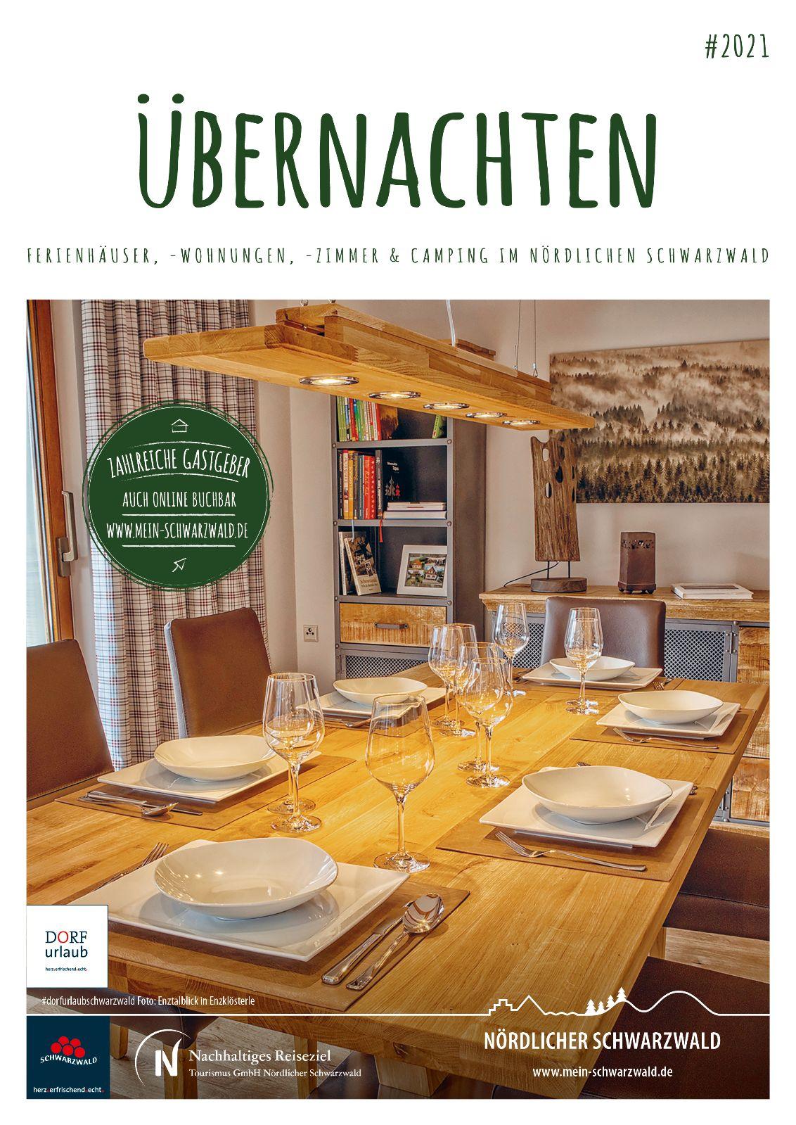Gastgeberverzeichnis Nördlicher Schwarzwald - Ferienhäuser, Ferienwohnungen, Gästezimmer, Campingplätze